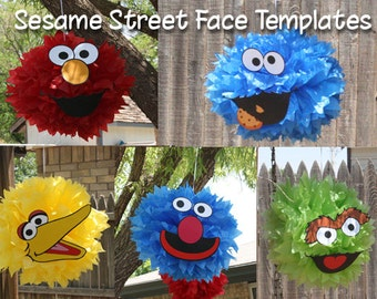 Sesame Street Face Cutouts (Digital File)