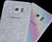 SILVER Glitter Samsung Galaxy Skin Sticker Samsung S6 Edge S6 S5 S4 S3