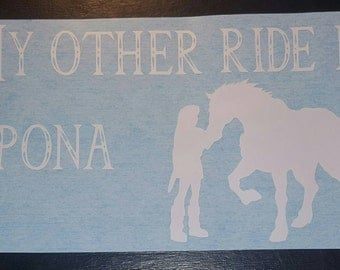 My Other Ride Is Epona Car Decal