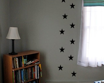 Space and star themed vinyl decals