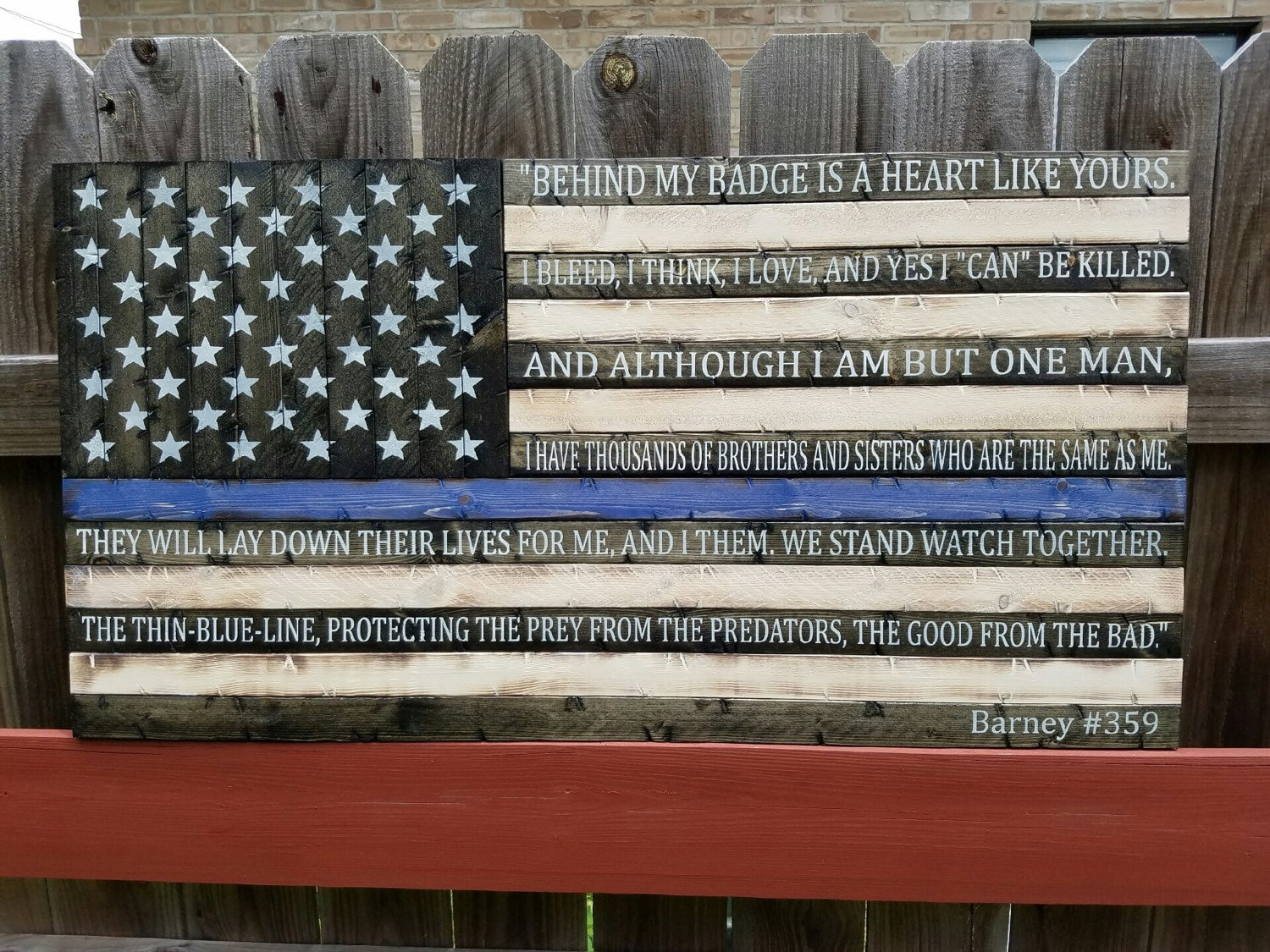 Thin Blue Line Flag W End Of Watch Quote