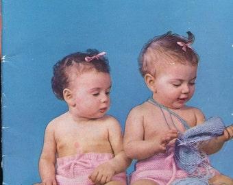 SALE 25% off 1950s Bernat Handicrafter Baby Handknits Book 27