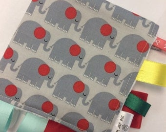 Cute Elephant Ribbon Blanket