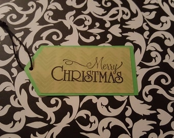 Holiday Gift Tag: Merry Christmas. Single Tag.
