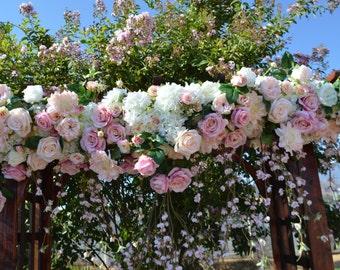 Wedding Arch, Chuppah Arch, Photo Backdrop, Wedding Flower Backdrop, Wedding table backdrop, Silk Flower Backdrop