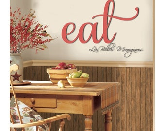 Eat wooden letters etsy for Kitchen letters decoration