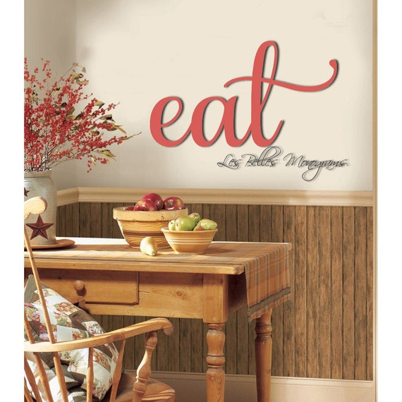 Wooden Kitchen Wall Decor : Wooden eat sign kitchen wall decor wood