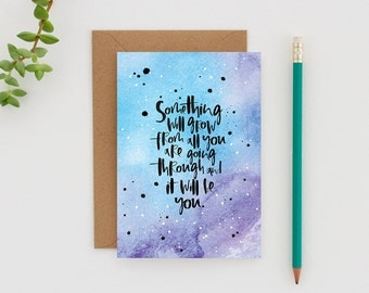 Modern Sympathy Card - Watercolour Sympathy Card - Thinking of You Card - Motivational Card for best Friend
