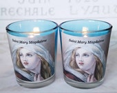 Candles - Pair of Saint Mary Magdalene Votive Candles