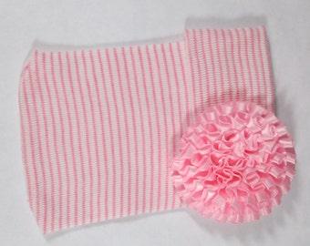 Newborn Hospital Hat, Newborn Beanie, Newborn Hat, Newborn Photo Hat, Newborn Baby Hospital Hat, Flower Hospital Hat, Newborn Keepsake