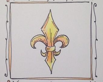 Fleur De Lis Notecards