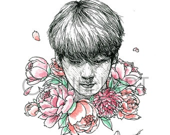 Floral BTS Mini Art Zine