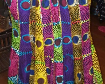 African Mixed Print Skirt