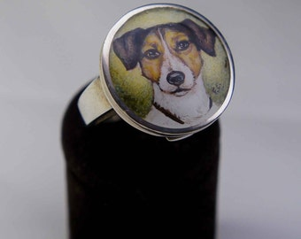 Hand painted dog ring