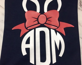 Preppy Bunny Ears Monogram Shirt