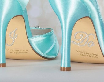 Bridal - I Do , Me Too - Shoe Sole Crystal Stickers