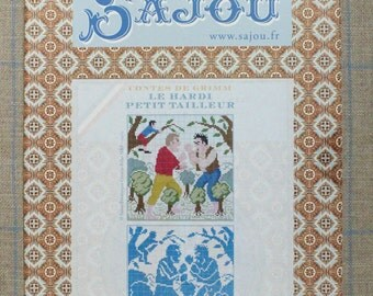The clever little tailor - Grimm's fairy tale in cross stitch