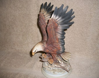 Homco Bald Eagle Masterpiece Figurine