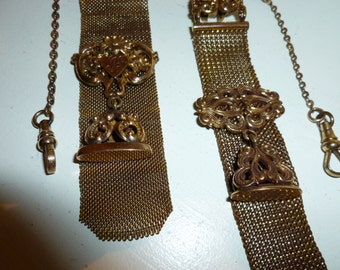 Antique Lovely Victorian Watch Fobs / Lot Of Two / One Dollar Shipping