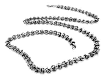 """Stainless Steel Double Vision Chain Necklace Handcrafted Chainmaille 57cm / 22"""""""
