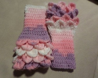 Fingerless gloves, childrens gloves, winter  accessory, Christmas gifts, stocking fillers, little girls gloves, girls mittens