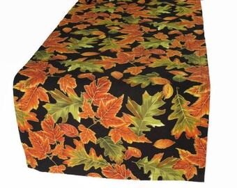 Fall Leaves Table Runner, Autumn Table Decor, Thanksgiving Table Runner,  Fall Table Linens, Fall Table Runner &  Napkin Set