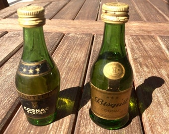 2 mini brandy, mini bottle collection, Biscuit and Gauthier brand