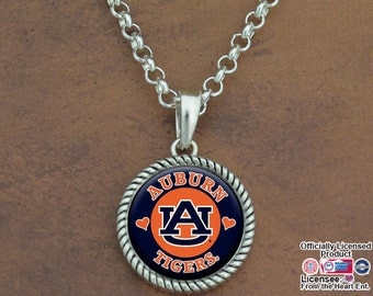 Auburn Tigers Rolo Necklace - AUB55898