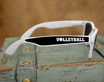 Volleyball White Wayfarer Sunglasses - 49691