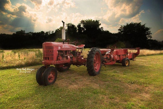 Farmall M Tractor Country Photograph 5x7 8x10 11x14