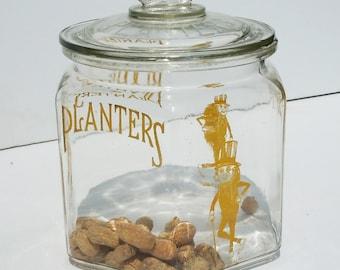 Planters Peanuts / Vintage Countertop Display / Storage / Keep the heathy Food within Reach