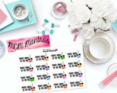 "MCM MANTRAS: ""Punch Today in the Face"" Paper Planner Stickers!"