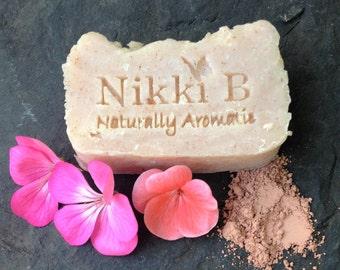 Nikki B Geranium & Lime Pink Clay Soap