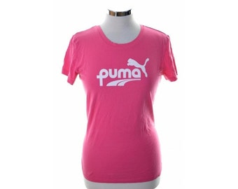 Puma Womens T-Shirt Large Pink