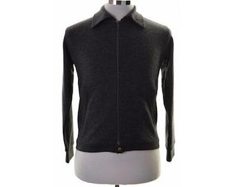 Lee Mens Cardigan Sweater Small Black Acrylic
