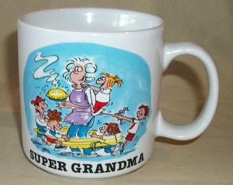 SUPER GRANDMA Coffee Mug Cup Mugz by Ganz Colorful Graphics
