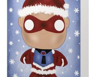 Mr Incredible Pop Christmas Card
