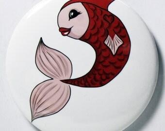 Red Fish Pocket Mirror