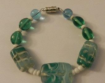 Valentine Sale Beaded bracelet in Beautiful shade of light Blue