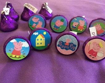 Peppa Pig Hershey's kisses labels, envelope seals, party favors