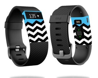 Skin Decal Wrap for Fitbit Blaze, Charge, Charge HR, Surge Watch cover sticker Baby Blue Chevron