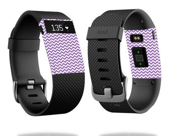 Skin Decal Wrap for Fitbit Blaze, Charge, Charge HR, Surge Watch cover sticker Lavender chevron