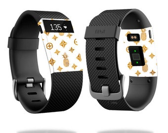 Skin Decal Wrap for Fitbit Blaze, Charge, Charge HR, Surge Watch cover sticker Gold PinePebbles