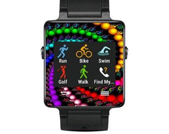 Skin Decal Wrap for Garmin Vivoactive Forerunner Watch cover sticker Trippy Spiral