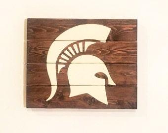 Spartan Helmet - wood wall art