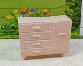 "MARX LAUNDRY CUPBOARD, Contemporary Style, 1/2"" Scale, Soft Plastic, 1950's, Vintage Tin Dollhouse Furniture"