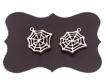 Spider Web Charms, 20 Pieces, Silver Tone, Zinc Alloy, 23mm
