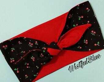 Rockabilly Cherry Headband