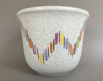 Steuler  3797 / 2 Mid Century Modern , design : colourful 1950s / 1960s planter, West Germany Pottery. WGP planter.