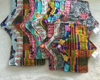 Made to order Set of 15 cloth pads, Cloth pad set, cloth pad set, cloth menstrual pads, menstrual pads, mama cloth